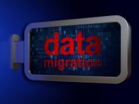 Data concept: Data Migration on billboard background