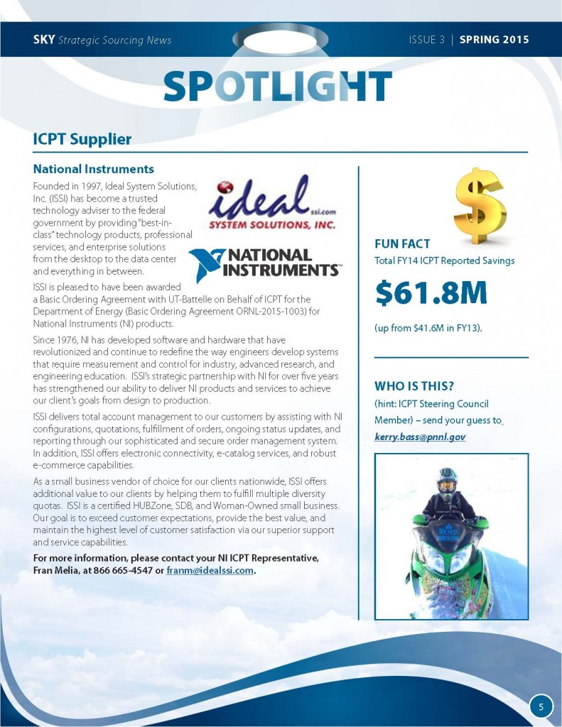 SKY-Strategic Sourcing Newsletter Spring 2015 5